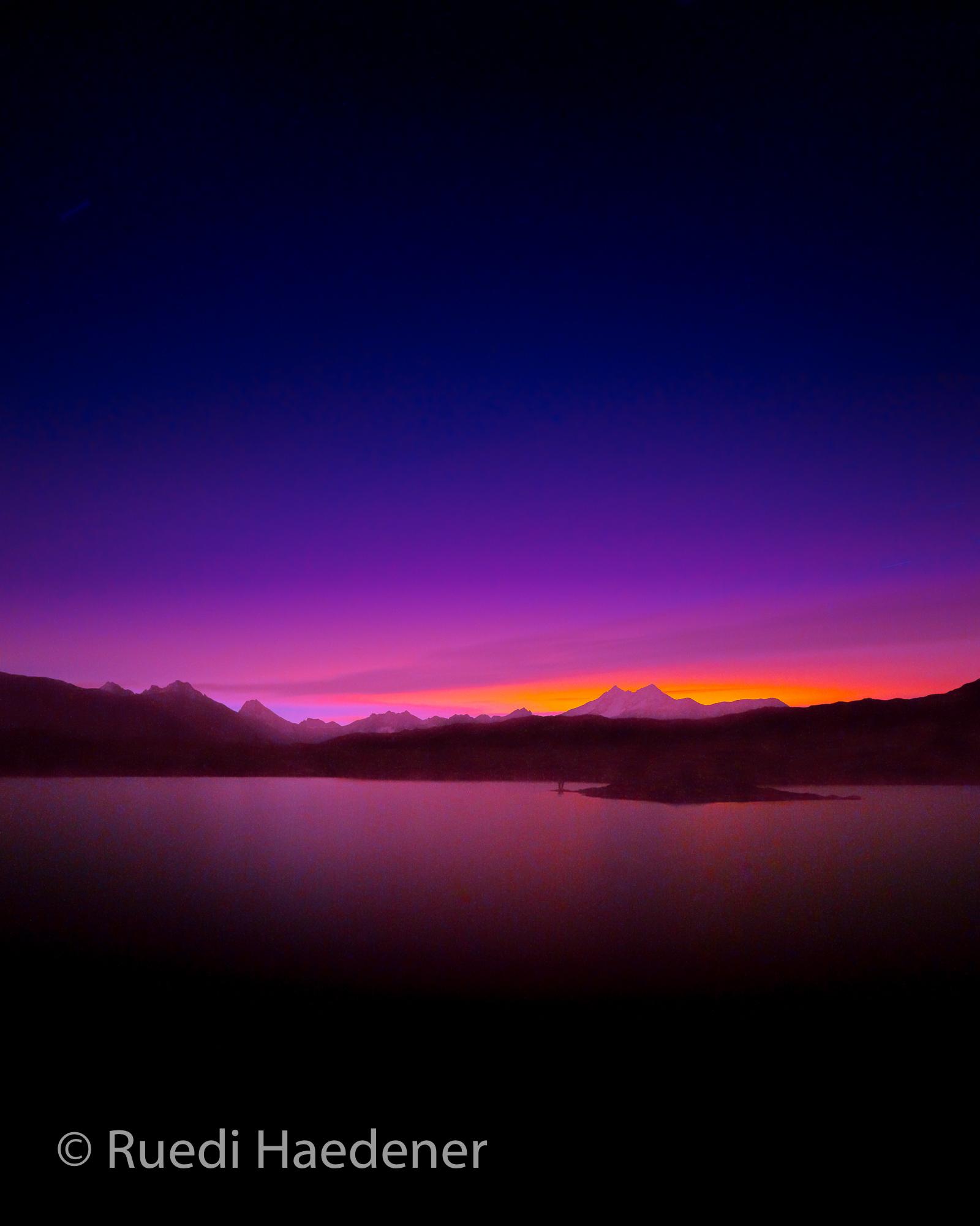 Morgenrot auf der Grimsel