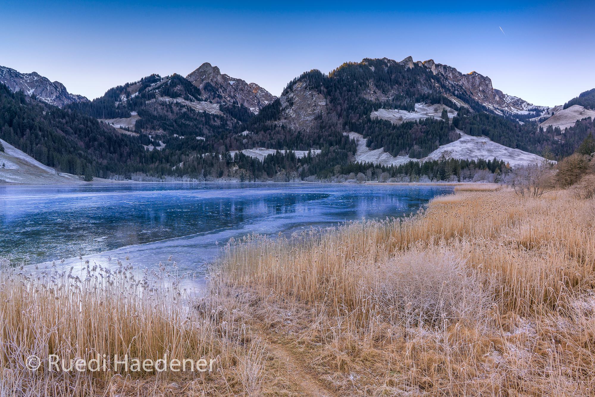 Schwarzsee gefroren